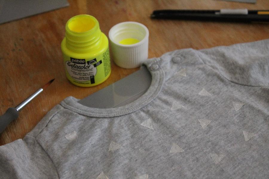 diy t shirt graphique pour la crevette. Black Bedroom Furniture Sets. Home Design Ideas